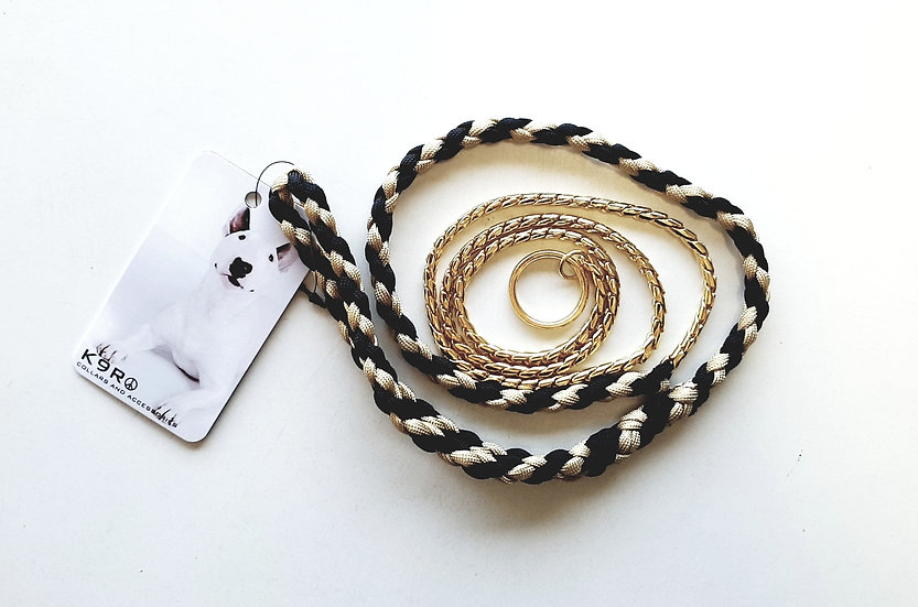 SHOW LEAD -Gold/Black, Gold Chain