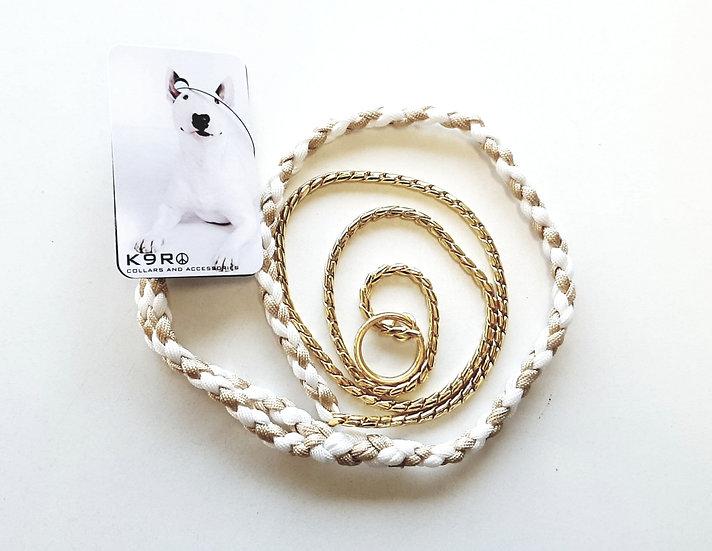 SHOW LEAD -White/Gold, Gold Chain