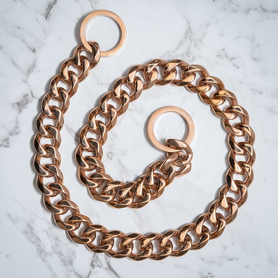 Neck Link Collar - 2cm Rose Gold