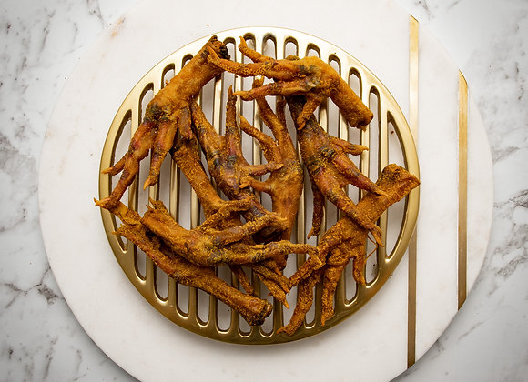 Dehydrated CHICKEN Feet Infused in Turmeric + Organic Coconut Oil
