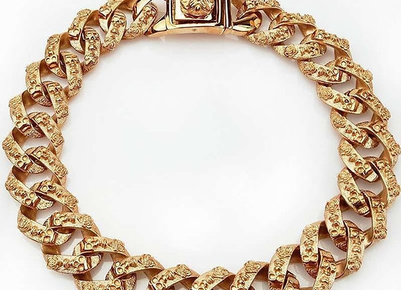 Skeleton Thick Gold Collar - 32mm