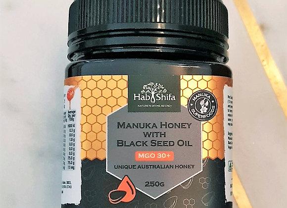 MANUKA HONEY + Black Seed Oil GMO 30 - 250g