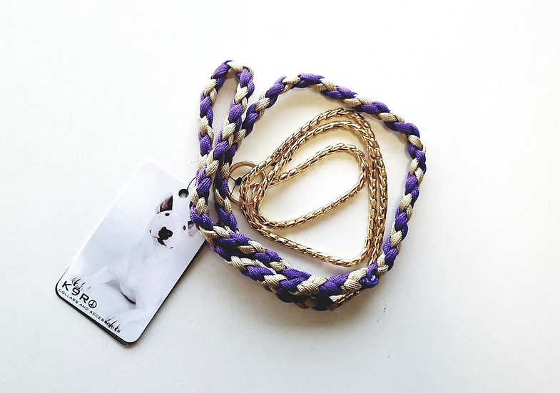 SHOW LEAD -Purple/Gold, Gold Chain