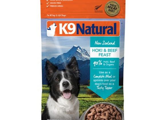 K9 Natural HOKI + BEEF 500g (freeze dried)