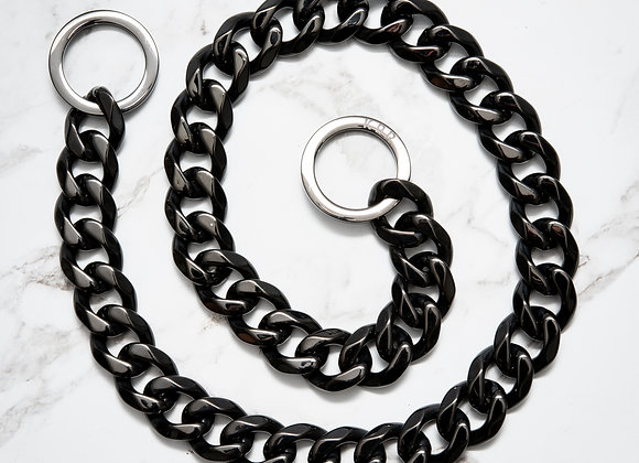 Neck Link Collar - 2cm Black