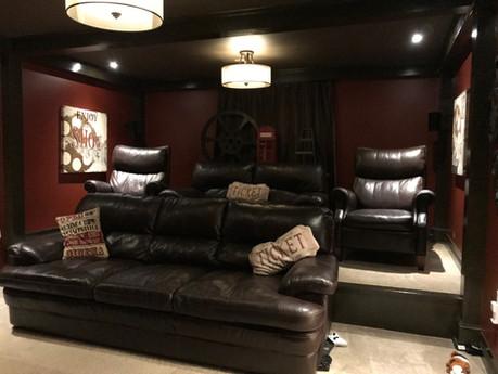 Movie Room stadium seating