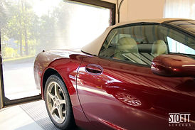 Panorama Garage Screen with Corvette and