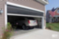 Panorama Garage with Screen Open and Car