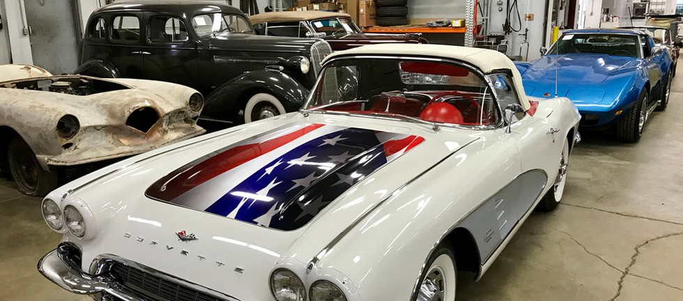 1961 Corvette Convertible. A tribute to our veterans. Thank you to all that serve.