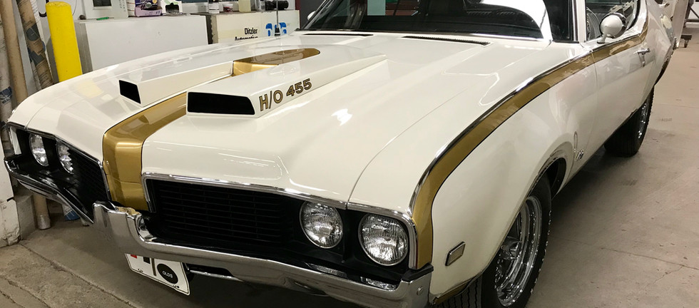 American muscle at it's best. 1969 Hurst/Olds. Does not play well with others.