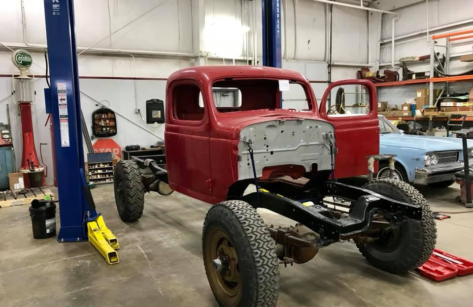 1950 Dodge Power Wagon, being converted to a 1950 Dodge Power Wagon Woodie.