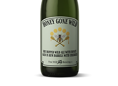 Honey Gon Wild - Dry Hopped Wild Ale with Honey Aged in Rum Barrels with Cherres