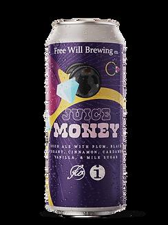 Juice Money - Sour Ale with Plum, Black Currant, Cinnamon, Cardamom, Vanilla, and Milk Sugar