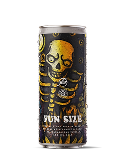 Free Will Brewing - Fun Size - Imperial Stout Aged in Bourbon Barrels with Peanuts, Cacao Nibs, Madagascar Vanilla, and Sea Salt