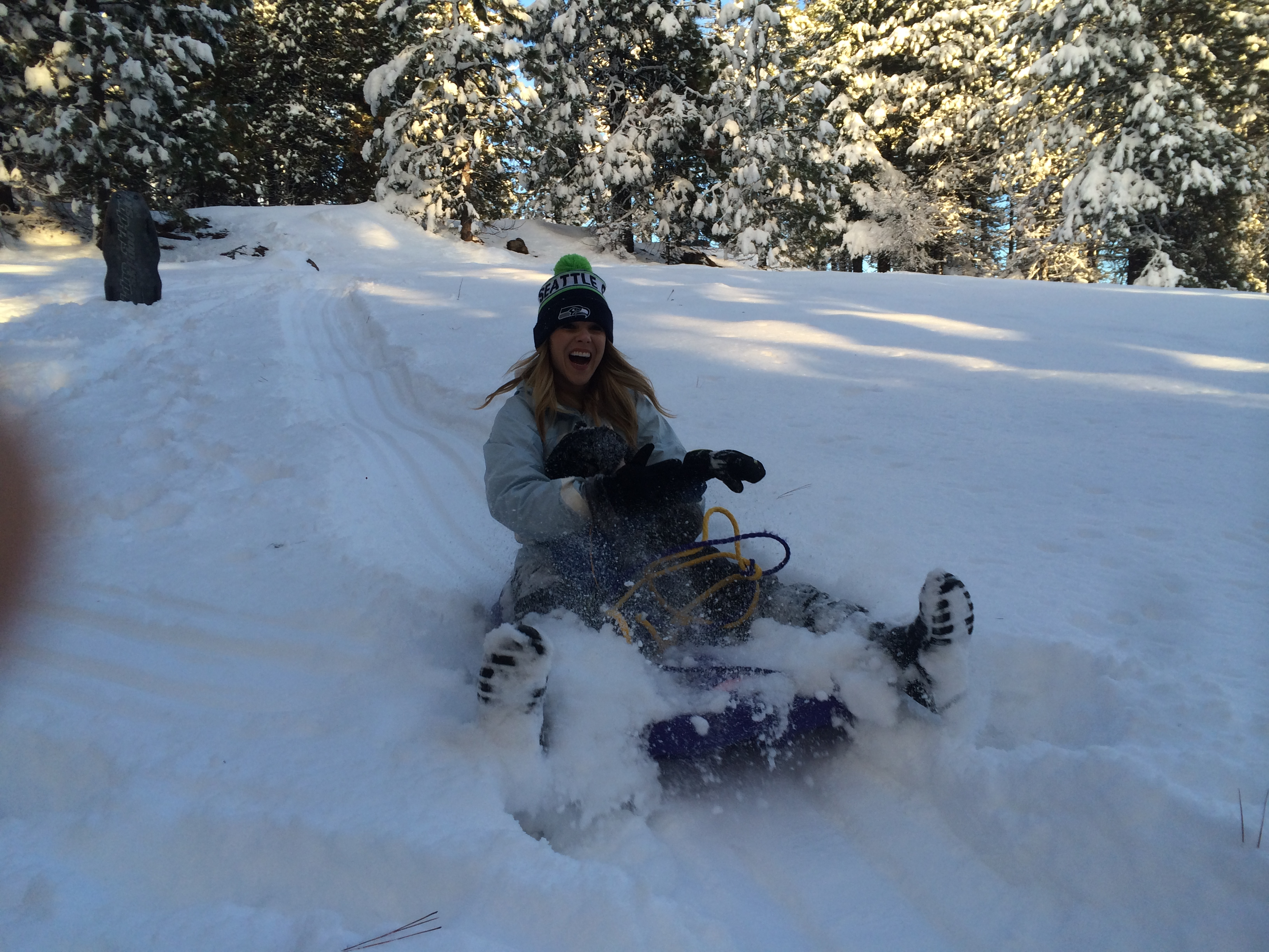 Sledding in Trout Lake, WA