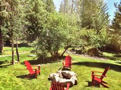 Trout Lake Cozy Cabins Firepit