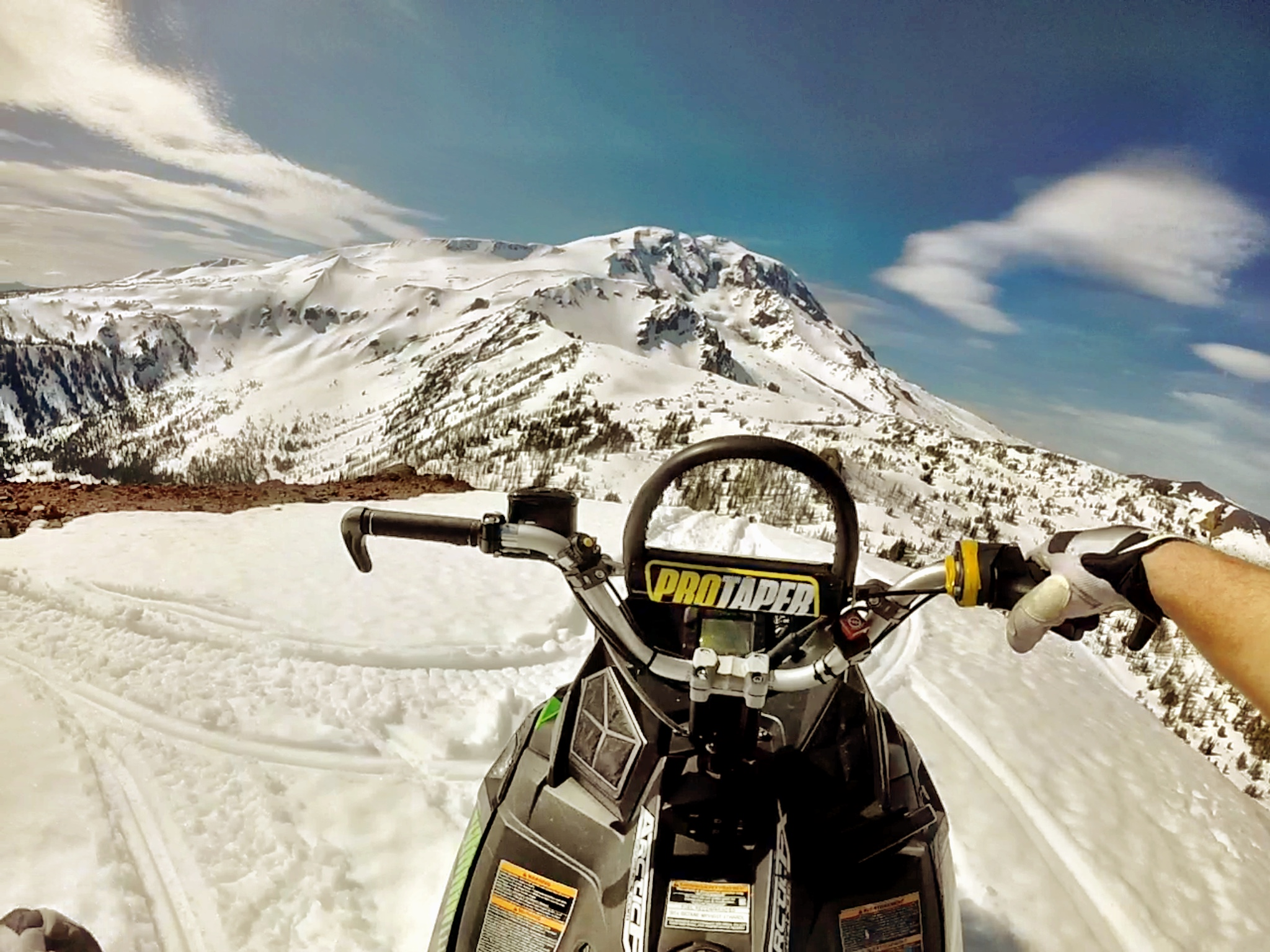 Snowmobiling on Mt. Adams