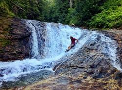 Natural Water slide near Mt. Adams