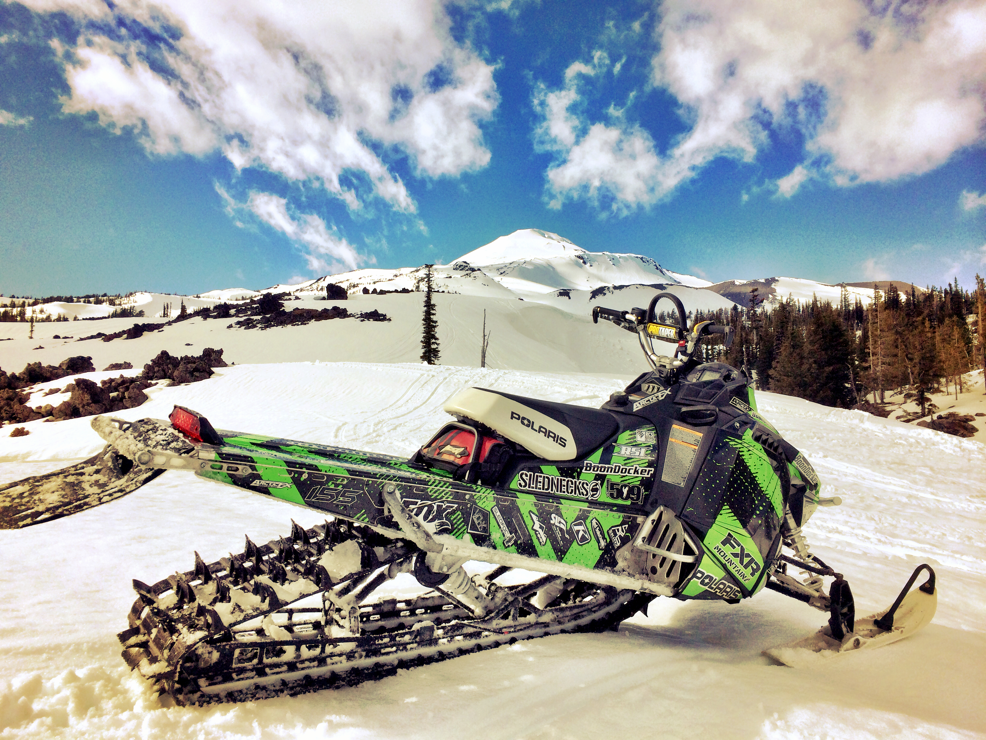 Snowmobiling Mt. Adams