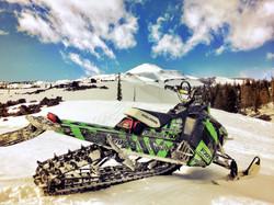 Snowmobiling Mt. Adams