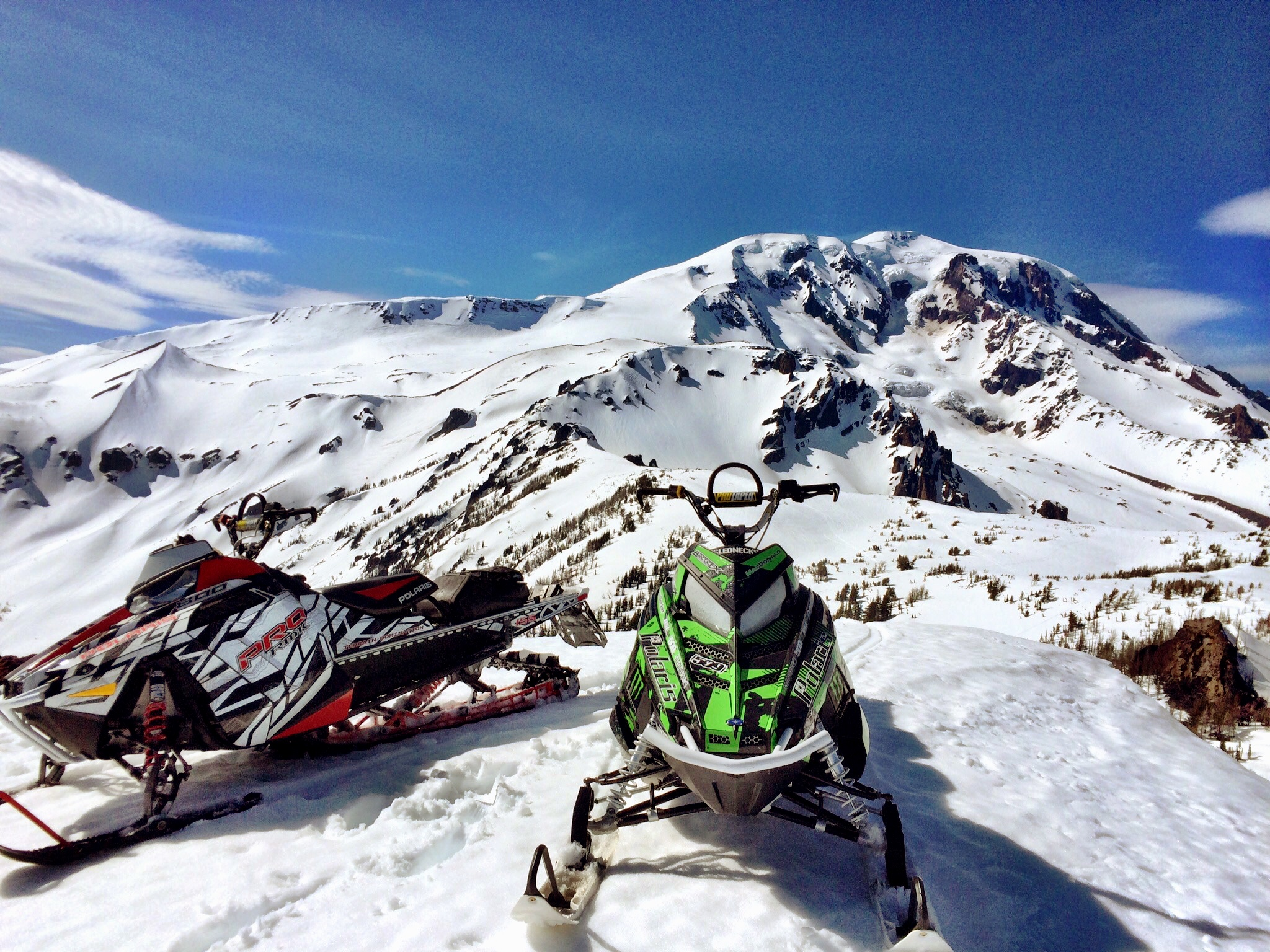 snowmobiling mount adams