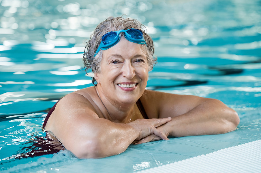 Swimmer who manages their medications