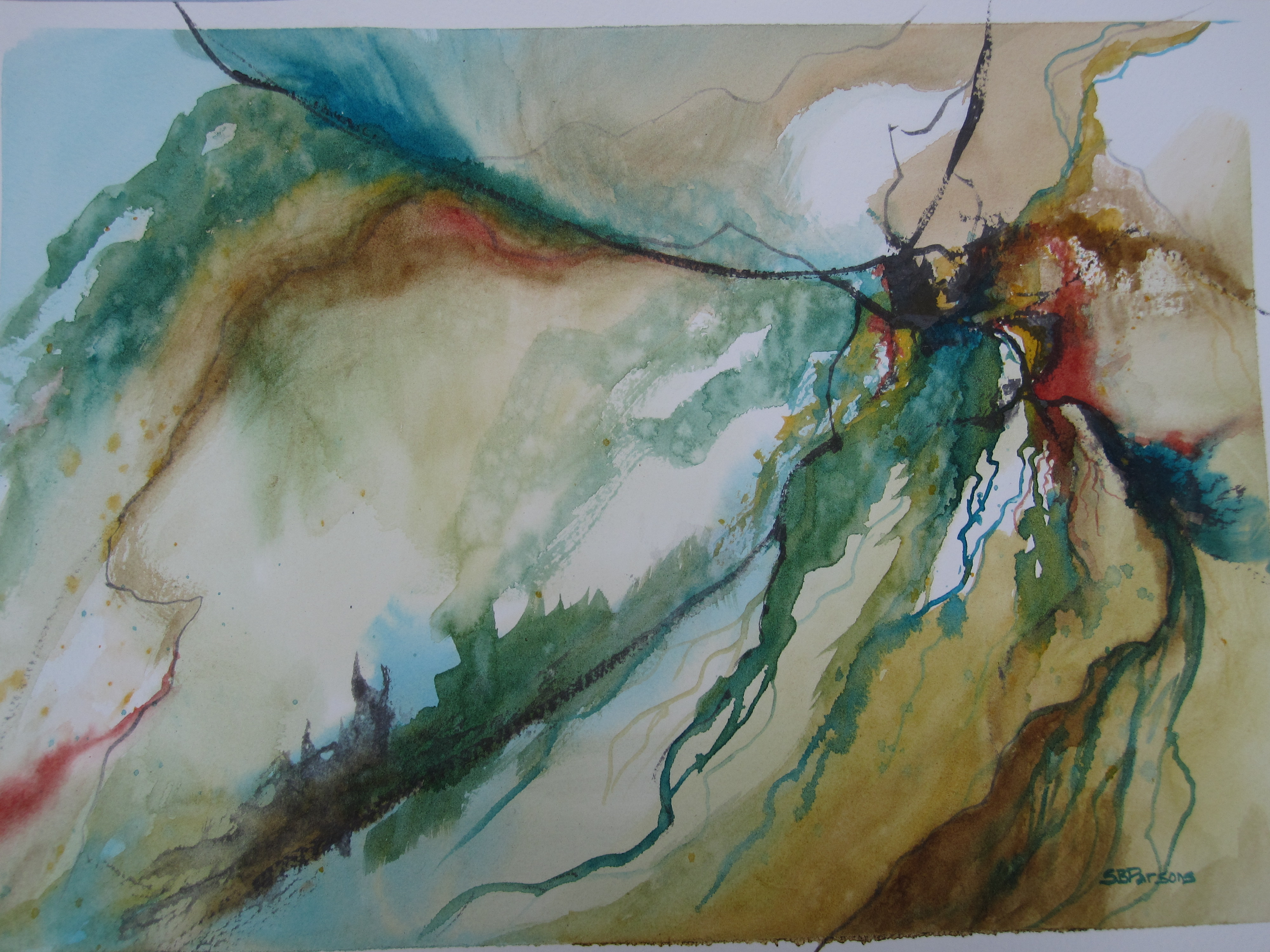 Seaweed Dance - watercolor - 11x15 - Five Island