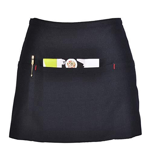 Atmos Green Denim 3 Pocket Waitress Apron - Jet Black Color