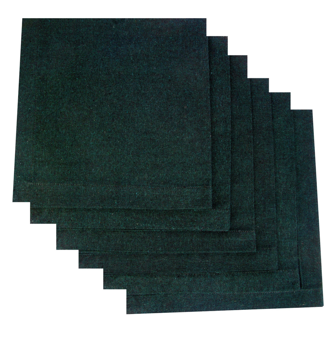 Atmos Green Recycled Cotton Napkins - Bottle Green Color