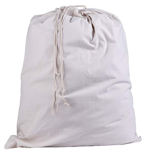 Atmos Green 100% Cotton Pre-washed and Pre-shrunk Drawstring Muslin Produce Cotton Laundry Bag