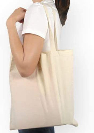ATMOS GREEN BRAND 100% Natural Cotton Tote Bag