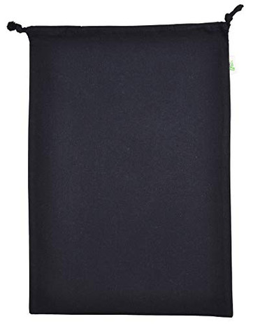 "Atmos Green 12"" x 16"" Recycled Cotton Drawstring Shoe bag"