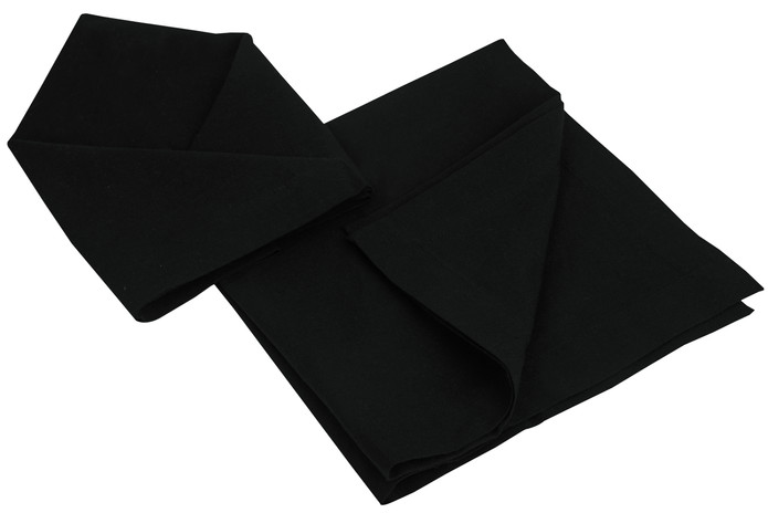 Atmos Green Recycled Cotton Napkins - Black Color