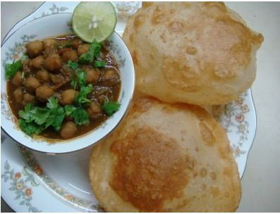 Channa Batura (2) With Channa Masala