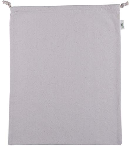 Atmos Green 100% Cotton Pre-washed and Pre-shrunk Drawstring Muslin Produce/  Vegetable Bags