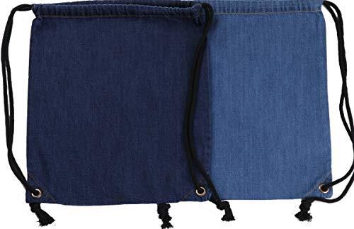 Denim Cotton Drawstring Backpack Bag