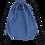 "Thumbnail: ATMOS GREEN  3 PACK 15"" X 13"" DENIM BLUE DRAWSTRING BACKPACK"