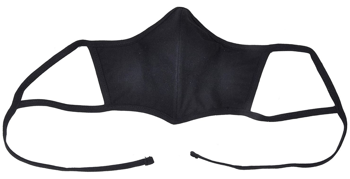 Atmos Green Recycled Cotton Face Mask - Black Color