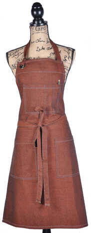 Atmos Green Recycled Cotton Apron - Rust Color