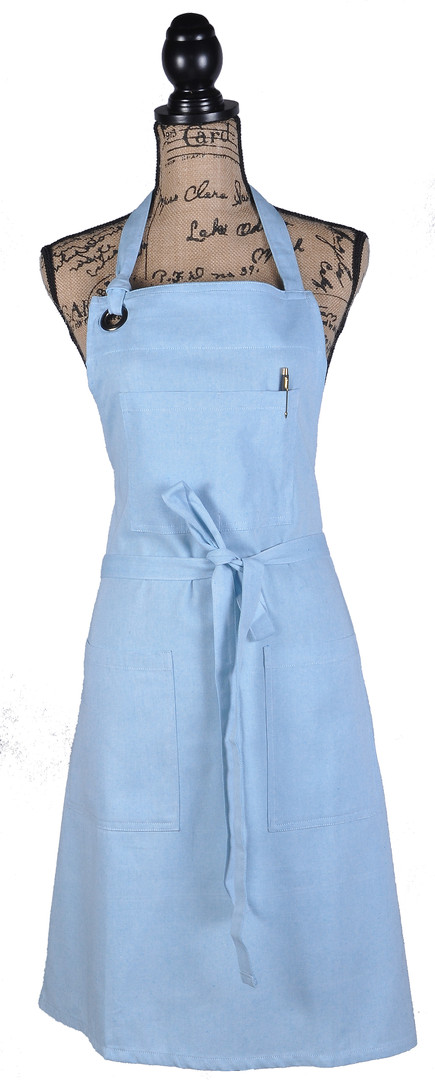 Atmos Green Recycled Cotton Apron - Sky Color