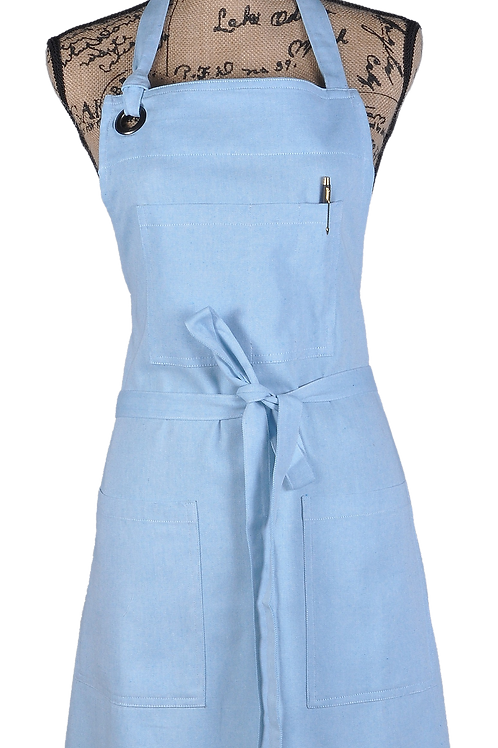 ATMOS GREEN 1 PACK RECYCLED COTTON APRON (AZURE)