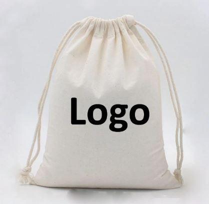 Atmos Green 100% Cotton Drawstring backpack gym, beach bags