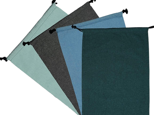 ATMOS GREEN 4 PACK GLACIER, GREY, AZURE & EMERALD COLOR SHOE BAGS