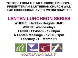 Lenten Luncheon Series