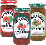 Relish, Hot Pepper Relish, Sweet Pepper Relish,Green Tomato Piccalilli