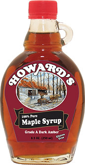 100% Pure Maple Syrup Glass 8.5oz