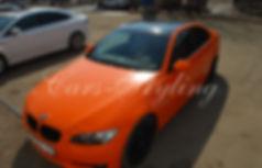 Оранжевый глянец, оклейка пленкой, защита кузова, обтяжка пленкой