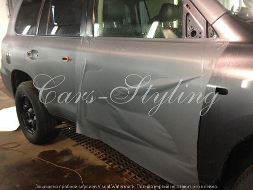 Оклейка карбоном, пленка на авто, оклейка пленкой, карбон серый
