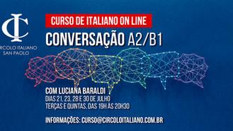 Curso online de Conversação - níveis A2/B1