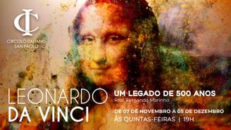 IMPERDÍVEL! Circolo promoverá curso sobre os 500 anos do legado de Leonardo da Vinci